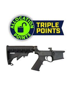 Plum Crazy Polymer Complete AR-15 Lower Receiver - Black | M4 Buttstock | Gen II