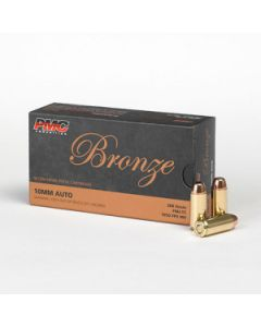 PMC Bronze 10mm Handgun Ammo - 200 Grain | FMJ-TC | 50rd Box