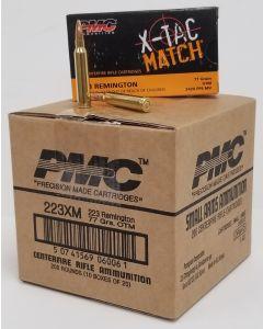 PMC X-TAC Match .223 Remington Rifle Ammo - 77 Grain | OTM | 1 Case (10Boxes)