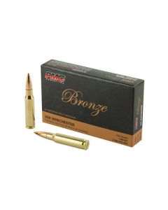 PMC Bronze .308 Winchester Rifle Ammo - 147 Grain | FMJ-BT | 20rd Box