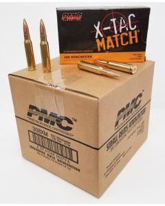PMC X-TAC Match .308 Winchester Rifle Ammo - 168 Grain | OTM | 200rd Case
