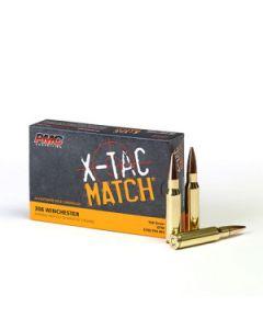 PMC X-TAC Match .308 Winchester Rifle Ammo - 168 Grain | OTM | 20rd Box