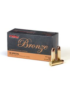 PMC Bronze .38 Special Handgun Ammo - 132 Grain | FMJ | 50rd Box