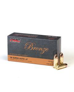 PMC Bronze .38 Super Handgun Ammo - 130 Grain | +P | FMJ | 50rd Box
