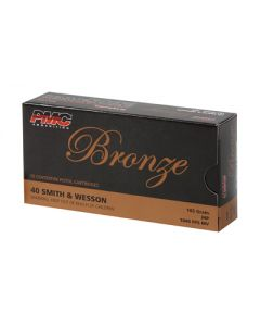 PMC Bronze .40 S&W Handgun Ammo - 165 Grain | JHP | 50rd Box
