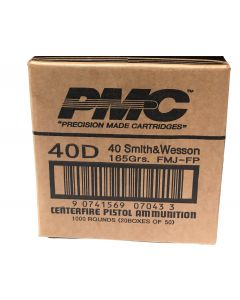 PMC Bronze .40 S&W Handgun Ammo - 165 Grain | FMJ-FP | 1 Case (20 boxes)