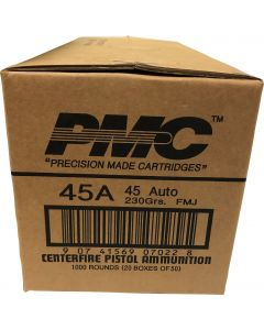 PMC Bronze .45 ACP Handgun Ammo - 230 Grain | FMJ | 1 Case (20 boxes)