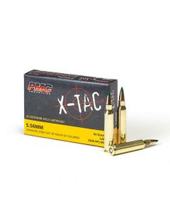 PMC X-TAC 5.56NATO Rifle Ammo - 62 Grain | LAP | 20rd Box