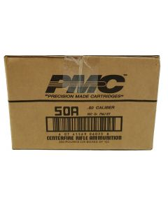 PMC Bronze .50 BMG Rifle Ammo - 660 Grain | FMJ-BT | 1 Case (20 boxes)