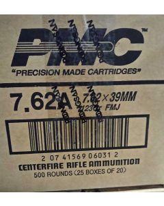 PMC Bronze 7.62x39 Rifle Ammo - 123 Grain | FMJ | 500rd Case