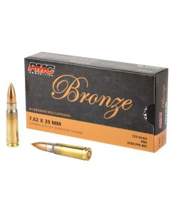 PMC Bronze 7.62x39 Rifle Ammo - 123 Grain | FMJ | 20rd Box