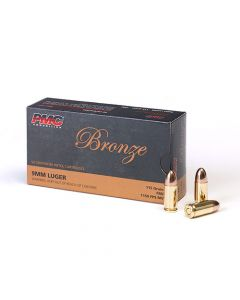 PMC Bronze 9mm Luger Handgun Ammo - 115 Grain | FMJ | 50rd Box