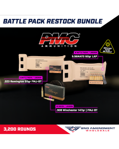 PMC Ammo Rifle Battle Pack Restock Bundle - 3,200 rounds | Includes 1 case of 223A-BP, 2 cases of 5.56K-BP & 2 cases of 308B in boxes