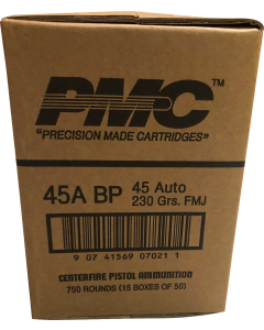 PMC Bronze .45 ACP Handgun Ammo in Battle Packs - 230 Grain | FMJ | 1 Case (Three 250rd Battle Packs for a total of 750rds)