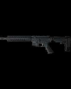 "R Guns TRR15 Forged AR15 Pistol - Black | 5.56NATO | 10.75"" Barrel | 10"" Quad Rail | YHM Phantom Flash Suppressor | SBA3 Arm Brace"