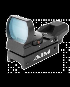 Aim Sports Classic Edition Reflex Sight - Black | 1x34mm | 4 Reticle Patterns | Dual Illuminated Reticle