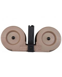 RWB AR-15 .223/5.56 Dual Drum Magazine - Desert Tan | 100rd | Gen 2 | Reinforced Feed Lips