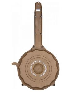 RWB Glock 9mm Drum Magazine - Tan | 50rd | Gen 2 | Fits Glock 17, 19, 26, 34