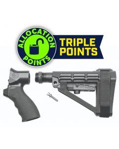 SB Tactical SBA4 Brace Complete Kit for Shotgun Firearm - Black | Fits Remington Tac-13