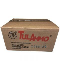 TulAmmo 9mm Luger Handgun Ammo - 115 Grain | FMJ | 1 Case (20 Boxes)