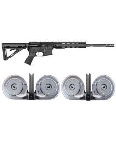 "Anderson AM-15 Forged AR Rifle - Black | 5.56NATO | 16"" Barrel | Magpul MOE Buttstock & 2 RWB AR-15 .223/5.56 100rd Dual Drum Mag Bundle"