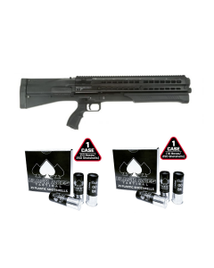 UTAS UTS-15 Bullpup Pump 12ga Shotgun 15rd Capacity - Black Bundled with 2 cases of B.A.T. 00 Buckshot