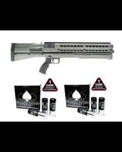 UTAS UTS-15 Bullpup Pump 12ga Shotgun 15rd Capacity - Tungsten Bundled with 2 cases of B.A.T. 00 Buckshot