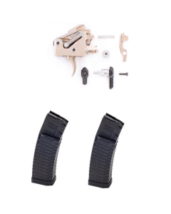 Fostech Echo AR-II Drop In Trigger For AR-15 Bundled with 2 ATI Schmeisser S60 Magazine - Black | .223/5.56 | 60rd | Gen 2 Military/LEO Edition