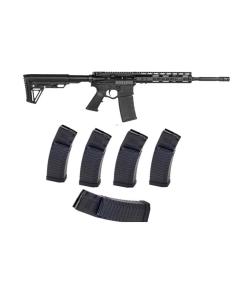 "ATI OMNI HYBRID MAXX P3P AR Rifle - Black | 5.56NATO | 16"" barrel | 10"" KeyMod Rail Bundled w/ 5 ATI Schmeisser S60 Magazine - Black | .223/5.56 | 60rd | Gen 2 Military/LEO Edition"