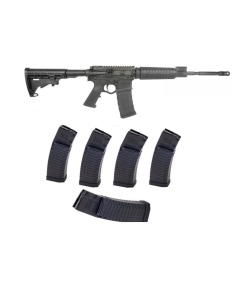 "ATI OMNI HYBRID MAXX AR Rifle - Black | 5.56NATO | 16"" barrel Bundled w/ 5 ATI Schmeisser S60 Magazine - Black | .223/5.56 | 60rd | Gen 2 Military/LEO Edition"