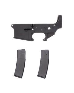 Anderson AM-15 Forged Stripped AR15 Lower Receiver - Black | No Logo Bundled w/ 2 TorkMag Dual-Spring AR-15 Magazine - Black | 40rd