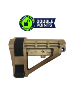 SB Tactical SBA4 Pistol Stabilizing Brace - FDE | No Tube | Bulk Packaging for OEM Use