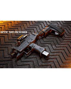"IWI UZI Pro 9mm Pistol - Black | 4.5"" Threaded Barrel | Adjustable Sights | Side Folding Stabilizer Brace | 25 Rd"