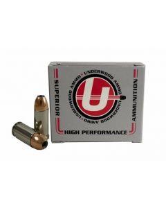 Underwood Ammo 9mm Luger Handgun Ammo - 124 Grain | +P+ | Jacketed Hollow Point | 20rd Box