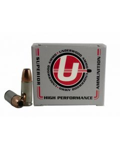 Underwood Ammo 9mm Luger Handgun Ammo - 124 Grain | +P+ | Bonded Jacketed Hollow Point | 20rd Box