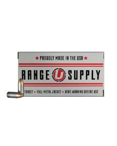 Underwood Ammo Range Supply 9mm Luger Handgun Ammo - 115 Grain | FMJ | 50rd box