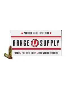 Underwood Ammo Range Supply 9mm Luger Handgun Ammo - 124 Grain | FMJ | 50rd box