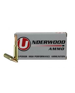 Underwood Ammo .308 Winchester Match Grade Rifle Ammo - 168 Grain | Hollow Point Boat Tail | 20rd Box