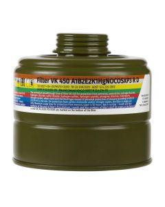 MIRA Safety VK-450 CO/CBRN Smoke/ Carbon Monoxide 40mm Gas Mask Filter - 13.5 Year Shelf Life | Fits CM-6M & CM-7M Gas Mask