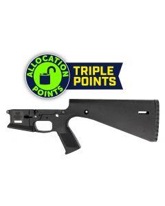 Wraithworks WARP-15 Polymer Stripped AR15 Lower Receiver - Black | Integral Buttstock & Pistol Grip | Trap Door Buttplate