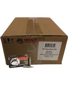 Wolf Steel Case .223 Remington Rifle Ammo - 55 Grain | FMJ | 1000rd Case