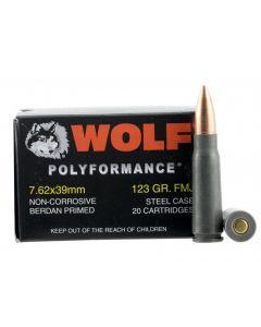Wolf Steel Case 7.62X39mm Rifle Ammo- 123 Grain | FMJ | 1000rd Case