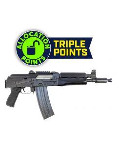 "Zastava ZPAP85 Alpha AK-47 Pistol - Stained Wood Handguard | 5.56NATO | 10"" Barrel | Booster Brake | Rear Trunnion Picatinny rail"