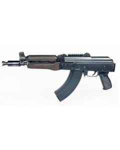 "Zastava ZPAP92 AK-47 Pistol BULGED TRUNNION 1.5MM RECEIVER - Stained Wood Handguard | 7.62x39 | 10"" Chrome Lined Barrel | Booster Brake | Rear Trunnion Picatinny Rail"