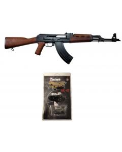 "Zastava ZPAPM70 AK-47 Rifle BULDGED TRUNNION 1.5MM RECEIVER - Walnut | 7.62x39 | 16.3"" Chrome Lined Barrel Bundled  w/ 1 Fostech Echo AK Drop In Trigger For AK-47"