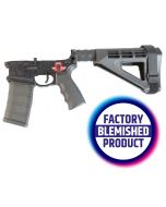 FACTORY BLEM - Franklin Armory BFSIII Equipped SALUS Complete AR15 Pistol Lower Receiver - Black | Installed BSFIII Trigger | SBM4 Brace | BLEMISHED, sold As-Is NO RETURNS