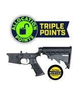 FACTORY BLEM - KE Arms KE-15 Forged Complete AR15 Lower - Black | M4 Buttstock | BLEMISHED, sold As-Is NO RETURNS