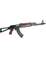 "Zastava ZPAPM70 AK-47 Rifle BULDGED TRUNNION 1.5MM RECEIVER - Blood Red Handguard   7.62x39   16.3"" Chrome Lined Barrel   Folding Triangle Stock"