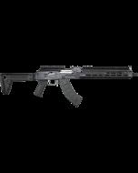 "Zastava ZPAPM70 AK47 Rifle BULGED TRUNNION 1.5MM RECEIVER - Black   7.62x39   16.3"" Chrome Lined Barrel   Extended M-LOK Handguard   Folding Stock"